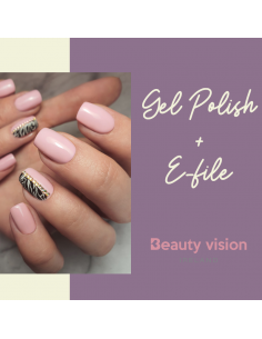 Gel Polish With E-File...