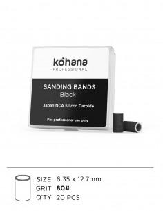 Sanding Bands Black #80 - 20pcs