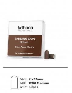 Sanding Caps Brown 7x13 Grit 120 Medium - 30pcs